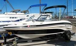 2007 19? Tahoe Q4-L - Clean as a Whistle! Open Bow, 3.0L Mercruiser, Alpha One, Bimini Top w/ Struts, Large Integrated Swim Platform w/ Ladder, Step Through Transom, Ski Tow, Ski Locker, AM FM CD, Fish Finder, Built-In In-Dash Cooler, Cup Holders, Single