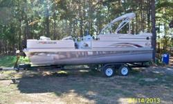 2009 Pontoon G3 Suncatcher Fish and Cruise BoatBoat comes with Motor, Trolling Motor and Trailor. Boat is in excellent condition and still under warranty. Boat Length is 22 ft, and Beam is 8ft1. Gasoline Outboard, 90 HP Yamaha Motor , Boat seats 12, Minn