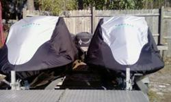 DOUBLE TRAILER VEST , LINES ,ANCHORS . YAMAHA WARRANTY GOOD TILL 2014 . PURCHASED 3/19/11. ADULT OWNED FRESH WATER ONLY. TRAILER IS A 2011 HAS WALK BOARD DOWN THE MIDDLE , CALL TERRY FOR NA APPT. @850-814-2606