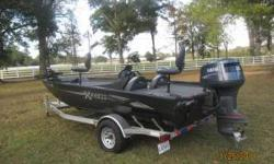 -2009 Model bought in Oct. 2010 with 2009115 HP 2 stroke Yamaha Motor -Heavy duty aluminum trailer with extras -50 lb. thrust Minn Kota trolling motor -Live well, lots of storage -Lowrance Elite 5 sonar/GPS system -2 batteries, and bilge pump - Heavy duty