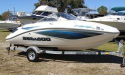 215 Sea Doo Motor, trailer, bimini with boot, radio, anchor, lines, full storage cover. Boat has less than 10 hours.