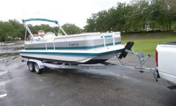 2002 Hurricane Deck boat with 86 total hrs. Thisboat is like new. Engine recieved a complete service 6-5-2013. This is a great family boatwith a ski pole, galvanized double axle trailer. Bimini top,sterio system, X 51 Lowrance fish finder, Porta Pottie,