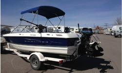 2008 Bayliner 195 Discovery, Bowrider equipped to fish and ski. This boat has had minimal use with only 56 hours on the main engine. The boat comes equipped with 3.0L MerCruiser Alpha I (135 HP), bimini top with front and side shield enclosures, bow well