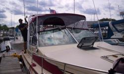 1983 searay 270 for sale must see /a/c heat 16000 btu /40 gal water /full camper top /engine and drives low hours /central vac /flat screen tv /dvd player /call 508 755 7600