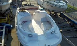 Nice condition and well maintained deck boat, 5.0L WITH TRAILER Volvo motor under 10 hours New U joint Bellows, exhaust bellows, water feed hose, & shift cable. New Long block w/warranty New exhaust manifolds and elbows New starter New low pressure fuel