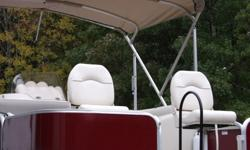 20 FT' Lowe Pontoon SS214 fishing Series- 4 fishing chairs-3 pole holders- live well rod box- built in tackle box with lock- battery box up front never used for trolling motor- plush captains chair- tanning table-AM/FM-MP3 Stereo- Kidney shaped table