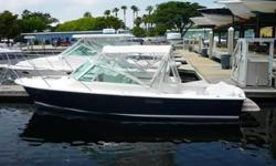 2011 Hunt Yachts 25 HARRIER This nearly new touring sport boat is in impeccable condition with only 58.3 hours. The way to tell that she isn't brand new is to look at the $40K still left in your pocket! This true deep-v delivers the outstanding dry ride