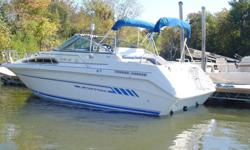 """Sea Ray Sundancer 270, 27' - 8'-6"""" beam, excellant family boat for over night travels. Well equipped"""