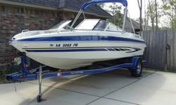 Must sell a 2008 Glastron GT 205 ski boat (20.5 ft). Boat is great looking with minor wear, extremely clean, only 87 hours use and rated for 9 people. It has a Mercury Mercruiser 5.0 L (220hp) engine with stainless steel prop that pulls great. Bimini top,