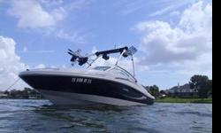 185 sport, low hours, wake tower with speakers, bimini top, lots of extras
