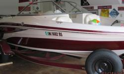 2010 Tahoe Q4; color ? black cherry. Very clean, garage kept and in great condition. Features include a stainless steel prop, matching Bimini top, full-width integrated swim platform with telescoping boarding ladder, grab handle assists, and stainless