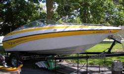 YES, the price is firm. NO I cannot take a trade. 19ft Crownline bowrider. 5.0 mercury I/O with aluminum prop. 160 hours. Bimini top, Bow and cockpit covers, swim platform with ladder, depth sounder, trim indicator and stereo w/CD. This boat is in