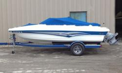 Selling a 2008 Larson 180 Sport with a 4.3GL Volvo(190hp). The boat is perfect for skiing, wakeboarding, tubing, or simply cruising around.This particular model is a anniversary edition (95th). As you can see from the picture, the boat has a both a