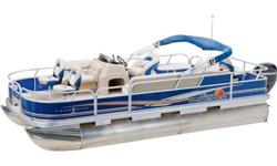 This is a fishing layout pontoon that comes with vinyl flooring and a Mercury 40 hp motor!
