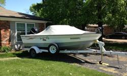 My Dad passed away last September. He bought this boat April 2008 and had cancer in 2009. He must have used this boat 5 times. This is a super 17' Lund boat /one owner family/fishing boat. This boat has all the options and a 115 Mercury 4 S motor that is