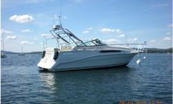 """1994 Cruisers Yachts 2870 Rogue,This super-clean low-hours cruiser is powered by dependable twin Volvo Penta 5.7-liter V8 350 engines ($9,000 in upgrades) with duoprops. She cruises at 24 knots, is capable of 36 knots. With a 9'6"""" beam, she's very"""