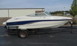 2005 Chaparral 190 SSI ? 20? Open bow boat with only 137 hours. Always dry stored. Has 4.3 Ltr V-6 with Volvo outdrive. Comes with all accessories needed to get on the water. This boat has all the goodies as well as Bimini Top, Extended Swim Platform,