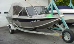 Reduced from $20K. Best deal in town. Special FIRM Price! 60 YAMAHA FOURSTROKE,8ELHFOURSTROKE,LOWRANCE X-91,COMPLETE TOP,SIDES,DROP CURTAIN W/SLOPING AFT CURTAIN,COLUMBIA RIVER ANCHOR SYSTEM,WIPER,EZ-LOADER GALV. TRAILER W/SPARE503-933-4484