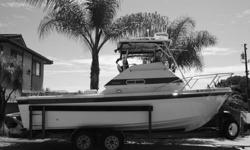 1986 Skipjack 24? w/Flybridge? 350 Chevy V-8 Engine, GPS, Navigation, Radar, Fish Finder, Bait tank, Premium Stereo, New Upholstery, and trailer?..Price to sell! $17,999 Please call Terry @ (619) 726-4523 MACHINERY