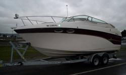 Come by take a look. Less than 500 hr on engine. WITH TRAILER!!! Shore power, color gps dual fuel stove, air conditioner/dc refer, sleeps four cozy. search 1999 crownline 242 for more information. books nada is higher than asking price, just want to sell