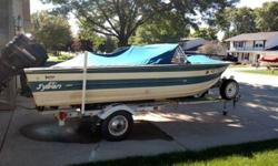 1981 sylvan 17 footer for sale with a 70 HP merc. All set up for salmon/walleye fishing. Have been tubing with it also. has plenty of rod holders(some not showen in pictures), net holder, Walker downriggers, LED lights on side and back of boat to shine