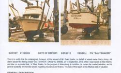 """The """"SALTSHAKER"""" is a 32' Fiberglass Reinforced Plastic (FRP) commercial salmon gillnetter / sternpicker, the hull, decks, and cabin structure are manufactured by Turbojet/ Ohima Boat of Buckley, WA in 1980, and the outfitting and interior completed by"""
