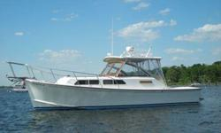 2001 33' Fortier Downeast. Powered by twin Volvo KAMD 44, 750 hours. Northern Lights Genset, AC/Heat, full galley, electric head with shower, sleeps four comfortably. Beautiful solid teak interior. Stable, dry and seakindly. More photos and information