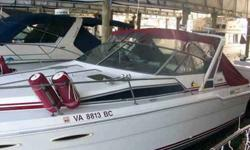 Twin 260 Mercruiser engines with Alpha 1 drives and new stainless Quicksilver props. 11' beam. All new manifolds and rises. Port engine replaced 2009. New Xantrex truecharge 40A, 3 bank battery charger. 5kw Kohler generator w/ 185 original hours. Bennet