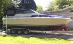 1986 searay sundancer 270 on a 2005 alum triple axel trailer with dual axel disk brakes the trailer has about a hundred miles on it used to launch at south river road about 3 or 4 miles away ive only used the boat 7 times in the last 7 years never kept it