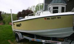 2006 EdgeWater 17 CENTER CONSOLE Great boat! Every part of this small but functional 17' Edgewater has the same attenion given to detail that Edgewater gives their larger boats. Whether it's the ride, space management, or storage it seems bigger even