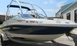 2007 Sea Ray 185 SPORT This is a fantastic sport boat for the money. With upgraded power of a Mercruiser 4.3 MPI and 220HP you have awesome power at your fingertips. Add in the Monster Wakeboard tower and you have BIG fun on the water. If you are waiting