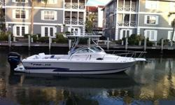 24' Proline Walk Around 2000, boat only, Mercury 225hp EFI with power trim, new alternator, new ignition switch, rebuilt starter, bottom painted July 2012, 22 gallon transom live well, full cover, cabin cover with full cockpit spray skirts, outriggers,