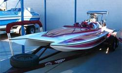 Hot Boat! Supercharged BB Chevy, Berkeley Jet w/ Ride Plate, Droop Snoot and Hydraulic Diverter, Tandem Axle Trailer and More! Ask Our Salesmen For More Details!