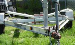 Continental Float On Trailer Boat Trailer. Excellent Tires, Ready to Go in the water.