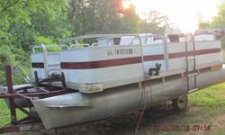 Hard to find 18 foot pontoon. Ready to go fishing, 3 good batteries, 24 volt trolling motor, new tires, Fish finder, nice top [not shown in pictures], lights work on boat and trailer. 50 hp Yamaha, dependable. Motor always starts and runs. Put new water