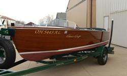1955 Chris Craft, restored 2010. original bottom. 120hp chris craft straight 6. New matching trailer.INCLUDED. all accessories included. up to date and legal. runs great, still in use. matching covers, towels, name on trailer. everything works, shows