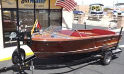 http://www.gotwatermarine.com/Consignment_1955_Chris_Craft_Continental_Runabout_18.htmlSHOWN BY APPOINTMENT ONLY.There?s something irresistible about a Chris-CraftPowered by Chris-Craft Marine Engine, 6 cylinder, 229 c.i. with 95 horsepower this boat is