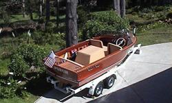 > We have a 1957 18' Chris Craft Holiday, that we've recently finished > a complete restoration on.> > > > We are the 2nd Family to ever own the boat, It was originally > delivered and docked in Duluth, Mn. by the Pearson's. We purchased and > shipped it