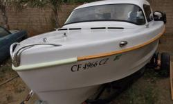 Boat is ready. 16ft. Its perfect for lakes and ocean. Glasspar is well known for early fiberglass boats. This one is a true classic. 1957. Engine is a 1965 60 hp Evinrude SportsFour with Electric Start and Tuned. Trailer and lots of goodies included.