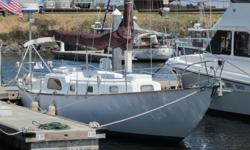 """Stranger II"""" built in 1959 is the ultimate ocean-going, sailing vessel from Aero Marine Plastics in Sausalito, California. The first production fiberglass sailboat of this size, 40 feet 10 inches long, hull #22, has a """"bullet-proof"""" hull designed for"""