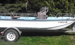 1962 Boston Whaler with 40hp '91 outboard Mercury. Includes rebuilt galvanized boat trailer. All titles are clear. Runs great. Tags current through June '14. Great for a project or hitting the water now. Used for crabbing and fishing. No low offers