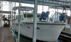 Great condition, both 426 Chrysler engines are strong, 2 working heads, 2 state rooms, new fridge and microwave, working generator, working heat and air. This yacht was built for the ocean but has never been in salt water and is ready for a new owner. I