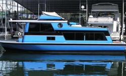 Type of Boat: House BoatYear: 1970Make: MARINETTEModel: SEACRESTLength: 40Hours: 25Fuel Capacity: 200Fuel Type: GasEngine Model: TWIN 318 CHRYSLERSSleeps how many: 8Number of A/C Units: 2Max Speed (Boat): 35Cruising Speed (Boat): 20Inboard / Outboard