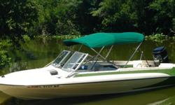 This is a beautiful vintage boat that is ready for the water. It has a Mercury 90 motor that has been upgraded with a 115 motor head. The seats and inside are very clean, and it runs great. Comes with a boat cover, bamini, trailer, ladder, and marine