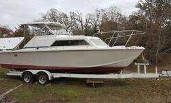 **Christmas Boat**1974 Chris Craft Express Cruiser (25ft)- Project Boat or Sold for Parts - You Decide!*Clean Title - In Hand!- Majority of the Motor has been pulled out, but all of the parts are still there and can be sold with the boat.- Pictures