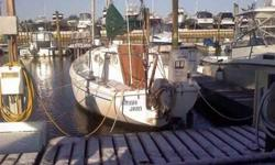 Launch is included if purchased soon. Bottom paint is finished. Surveyed - July 2010 Mast is stepped 9.9 hp Honda 4 stroke motor, READY TO SAIL ! Ray Marine Bidata depth finder. 2012 new tiller roller FURLER 2011 new anchor chain and rhode. 2011 new