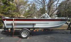 Nice fishing, tubing and water skiing boat! Has newer floors. Marine grade plywood was used to replace the old ones. Each piece was coated on all 6 sides with polyurethane before installation with aluminum rivets. Then, new marine grade carpet was