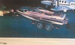 Cool boat in need of a owner who want to restore. Engine runs well, a lot of potential for a run ride. top speed of 60 MPH. Trailer comes with, ready to roll.455 Olds with Berkley Jet Pump.Great Fast Boat in its time.Make an offer and take it away.