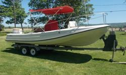 1976 Boston Whaler Outrage 21. The boat has only ever been in freshwater and has not been in water of any kind for at least the last 14 years that I'm sure of but probably closer to 20. I've not done anything cosmetically but have done some of the