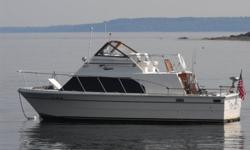 Beautifully Restored in 2007 with rebuilt engines, transmissions, wiring and gauges throughout helm. Wood Interior and upholstery completely stripped and redone. Spent every weekend on her and cruised all over Casco Bay for 3 years. Hate to see her go,